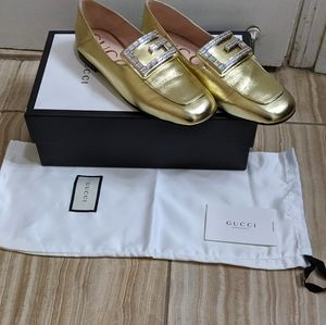 Gucci Madelyn Leather Loafers with Crystal G